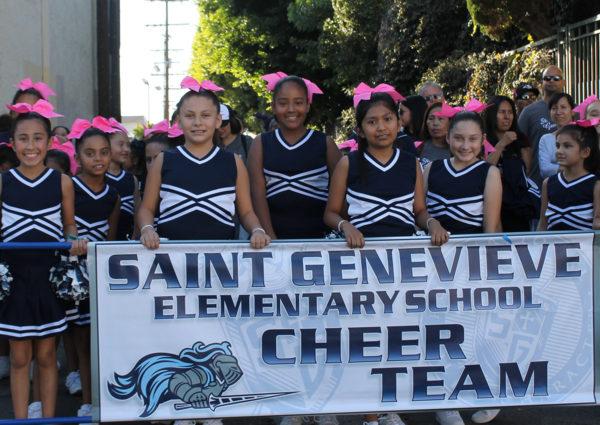SGES Cheer Team at homecoming