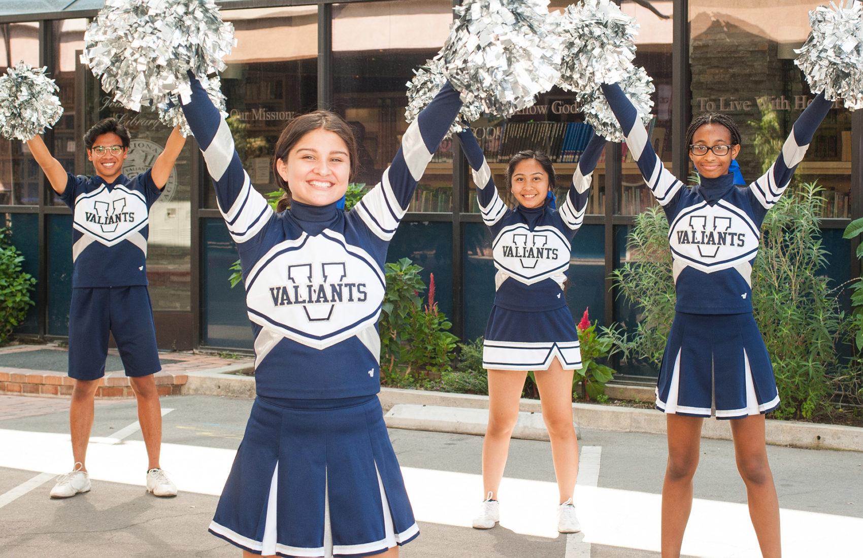SGPS Cheerleaders practicing their cheers